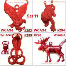 # SET 11 8 WAX PATTERNS CHARM CASTING ANIMAL EAGEL SNAKE