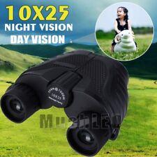 Binoculars 10X25 Zoom Outdoor BAK-4 Hunting Travel Folding Telescope Hiking Bag