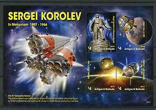 Antigua & Barbuda 2016 MNH Sergei Korolev Vostok Sputnik LUNA 4v MS Space Stamps