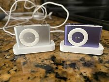 2 Apple iPod shuffle 2nd Generation (1 Gb). Purple And Silver In Good Condition