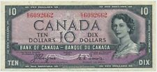 P-69a 1954 Devils hair CANADA $10 BANKNOTE Coyne, Towers VF E/D