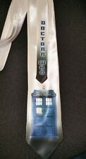 L@@K! Tardis Neck Tie - Doctor Who Gallifrey Blue box Satin Tie Whovians LOOK!