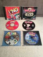 Lot of 4 PC Games Uno/The Game of Life/Monopoly Star Wars/Monopoly Casino