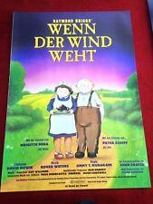 Wenn der Wind weht Kinoplakat Poster A1, Murakami, Bowie, Raymond Briggs