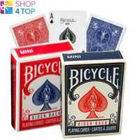 2 DECKS OF BICYCLE RIDER BACK MINI 1 BLUE AND 1 RED POKER PLAYING CARDS NEW