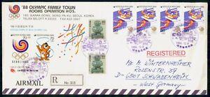 Mayfairstamps Korea 1988 Olympics Handball Block Registered Cover wwk_47397
