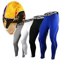 Men's Touch Down Mens COMPRESSION Under Pants Fitness Jogging Sport Leggings