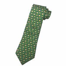 Vineyard Vines Boys Youth Green Fish Taco Design 100% Silk Necktie Tie