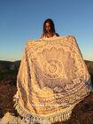 Hippie Indian Ombre Mandala Round Beach Roundie Fringe Throw Tapestry Yoga Mat