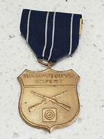 Vintage US Coast Guard Expert Rifle Medal & Ribbon