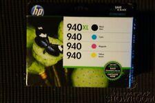 New Genuine OEM HP 4-Pack 940XL Black 940 Cyan Magenta Yellow Cartridges Sep2018