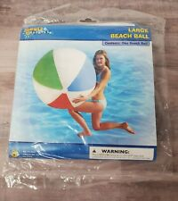 "Older Summer Escapes 48"" Jumbo Traditional Beach Ball Inflatable Rare NEW SEALED"