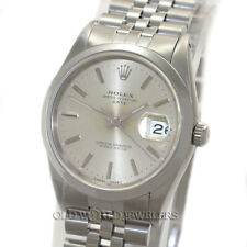 Rolex Oyster Perpetual Date Ref 15200 Silver Dial Stainless Steel Box Circa 1990