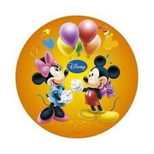 Disque Sucre Mickey & Minnie orange ballons - Décoration Gâteau 20 cm - Port 0