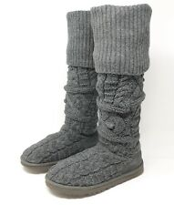 UGG Australia 3174 Gray Twisted Cable Knit Over The Knee Boots Womens Size 8