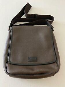 $138 Coach Mens Crossbody Shoulder Messenger Bag Fawn/Bonfire