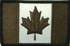 CANADA Flag Patch with VELCRO® brand fastener Brown & White Version  #7