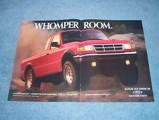 "1994 Ford Ranger 4x4 Supercab Vintage 2pg Ad ""Whomper Room."""