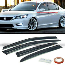 Fit 13-17 Honda Accord JDM Wavy Mugen Style 4 Pcs Tinted Window Visor Guard Vent