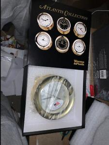 Weems & Plath Atlantis Quartz Ship's Bell Clock NEW AND FREE SHIPP