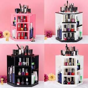 Womens Rotating Standing 360° Cosmetic Makeup Organizer Display Storage Shelf