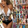 Damen Bikini One Piece Monokini Padded Bademode Badeanzug Schwimmanzug Einteiler