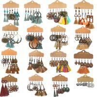 Boho Gypsy Earrings Tribal Ethnic Festival Tassel Ear Hook Drop Dangle Jewelry