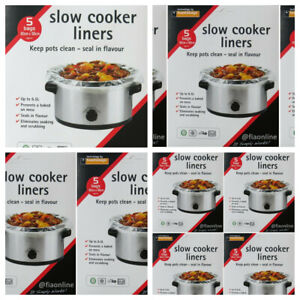 Slow Cooker Liners by toastabag Cooking Bags Round & Oval Cookers 5 10 15 20 25