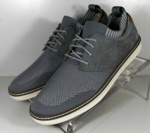 5912677 SP50 Men's Shoes Size 9 M Gray Fabric & Leather Lace Up Johnston Murphy