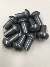 3//16 Diameter X 5//8 Length Solid Steel Round Head Rivet Pack of 1//2 Pound - Approximately 68 Pieces Plain Finish