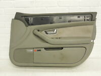 Audi A8 D3 OS Right Front Platinum Door Card With Silver Insert