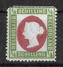 HELGOLAND GERMANY 1873 Mint Hinged 1/4 S Michel #8F CV €120