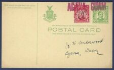 Philippines Postal Card UX13 Rizal Green with Guam Guard Mail M8 McKinley Stamp