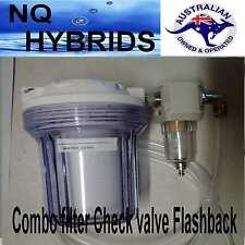 HHO GAS GENERATOR FILTER & VALVE SET.  Filter, check valve. flashback  3/8 barb