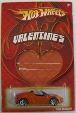 Hot Wheels 2008 Valentines TESLA ROADSTER orange VHTF Target Exclusive