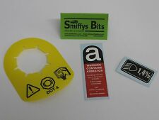 Rover Mini Cooper DOT 4 Brake Servo Tag, Asbestos, Light Dip Set MG ROVER MGF