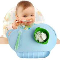 Baby Kids Silicone Cloud Messy Placemat Antislip Eating Mat Table Pad AU E5R4