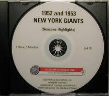1952 and 1953 New York Football Giants Highlights, both on one DVD!
