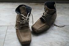 warme RIEKER Damen Winter Schuhe Stiefel Boots wildleder gefüttert Gr.38 beige