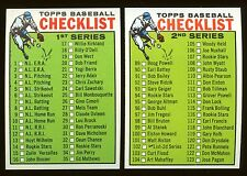 2 card lot 1964 Topps Baseball #76,#102 Unmarked Checklists EX-MT
