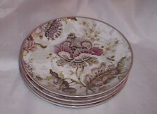 222 Fifth  Gabrielle Cream  Appetizer Canape Party Plates Set of 4 NEW