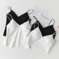 Women Padded Bra Crop Top Vest Bralette Bralet Bustier Cami Sleeveless Tank Tops