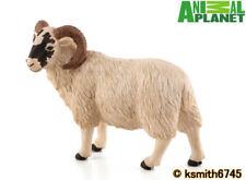 Mojo Animal Planet BLACK FACED RAM solid plastic toy farm pet sheep * NEW