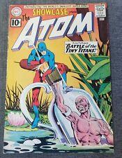 Showcase 34 DC Comics 1961 1st app ATOM! Silver Age Gil Kane Murphy Anderson