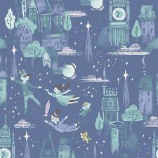 By 1/2 Yard Riley Blake Neverland Main in Purple ~ Peter Pan Fabric Jill Howarth