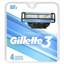 Gillette Mach3 Turbo Blade Razor Replacement Refill Cartridges, 4 Pack