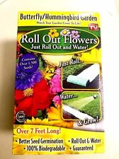 As Seen On Tv Roll Out Flowers 7ft. ButterFly/HummingBird Garden Roll-Water-Grow