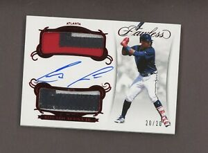 2018 Panini Flawless Ruby Ronald Acuna Jr. RPA RC Rookie Dual Patch AUTO /20