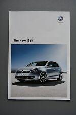 Automobile brochure, vw volkswagen golf 2008 essence/diesel 1.4/2.0 gt se tsi tdi