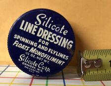 Vintage Silicote Spinning Line Dressing Jar Oshkosh Wisconsin